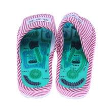купить Newly Massage Slippers Striped Reflexology Acupuncture Sandals Foot Acupoint Shoes for Women Men BF88 по цене 460.48 рублей