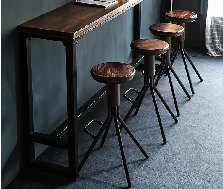 22110 Solid Wood Bar Table And Chair. Leisure Bar Table Rotation..1222
