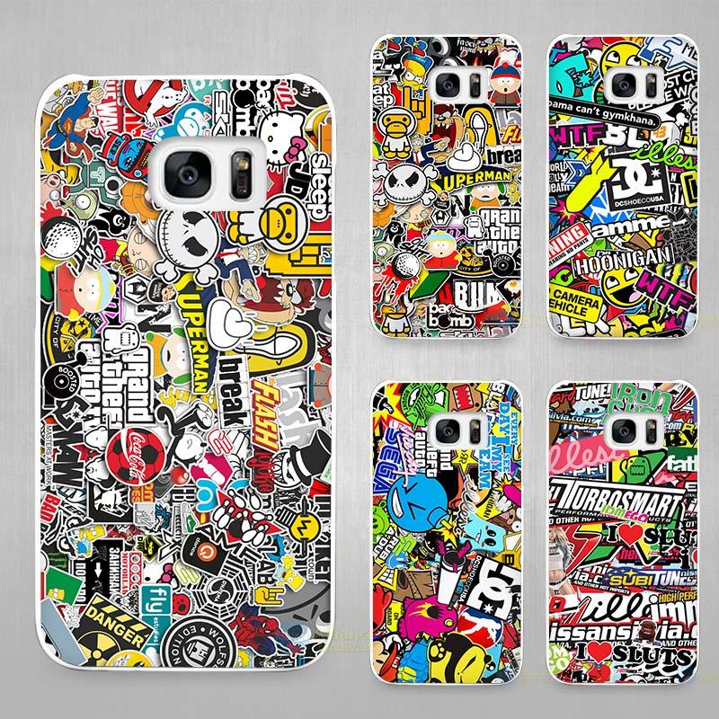 웃 유sticker bomb hard white coque shell case cover phone cases for