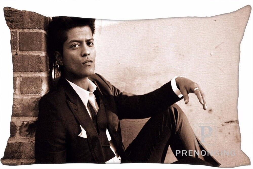 Best Custom Pillow Case Bruno Mars Lifestyle Rectangle Pillowcases zipper 35x45cm (One Side Print) @180117-12