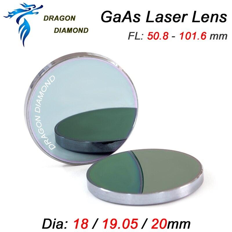 GaAs Laser Lente di Messa A Fuoco DIa. 18mm 19.05mm 20mm Lunghezza Focale 50.8mm 63.5mm 101.6mm Per CO2 Incisione Laser Macchina di Taglio