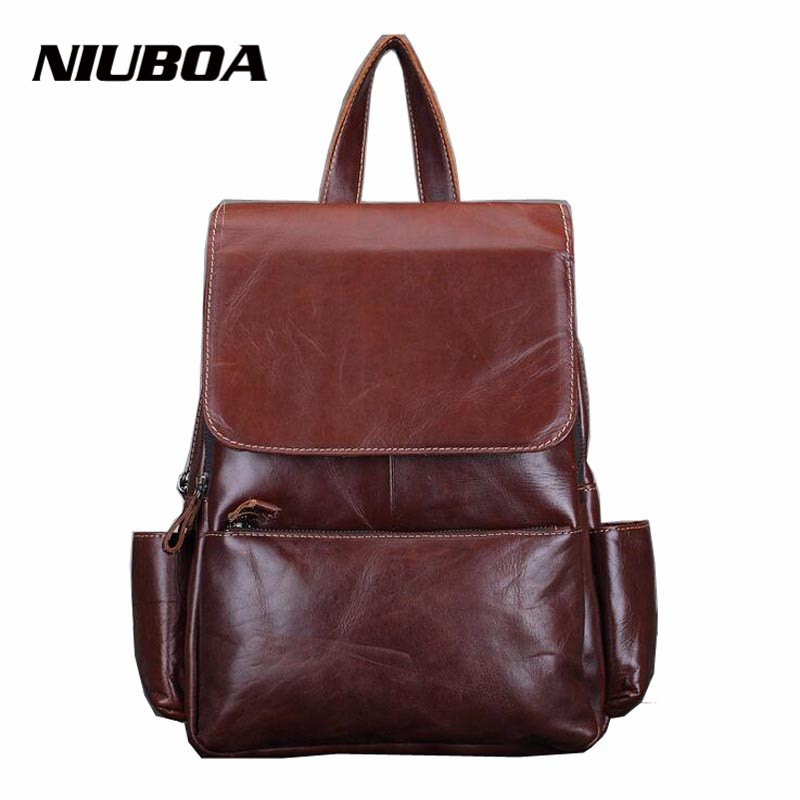 100% Genuine Leather Backpack Woman Soft First Layer Real Leather Backpack Korean Ladies Bag Daily Backpack Girl School Daypacks