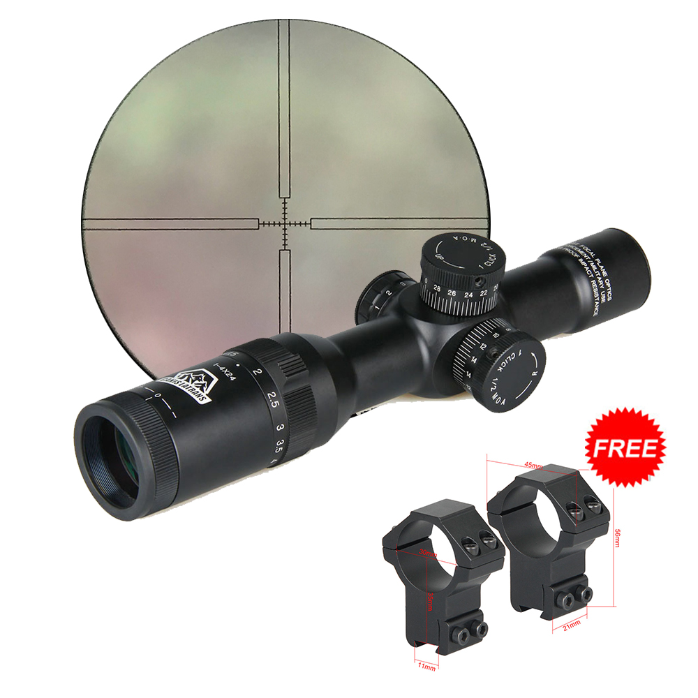 Canis Latrans Rifle Hunting Scope 1 4x24 Irf Rifle Scope Green Coated For Outdoor Hunting Sport Gs1 0197 Hunting Scopes 1 4x24 Scope 1 4x24rifle Scope Aliexpress