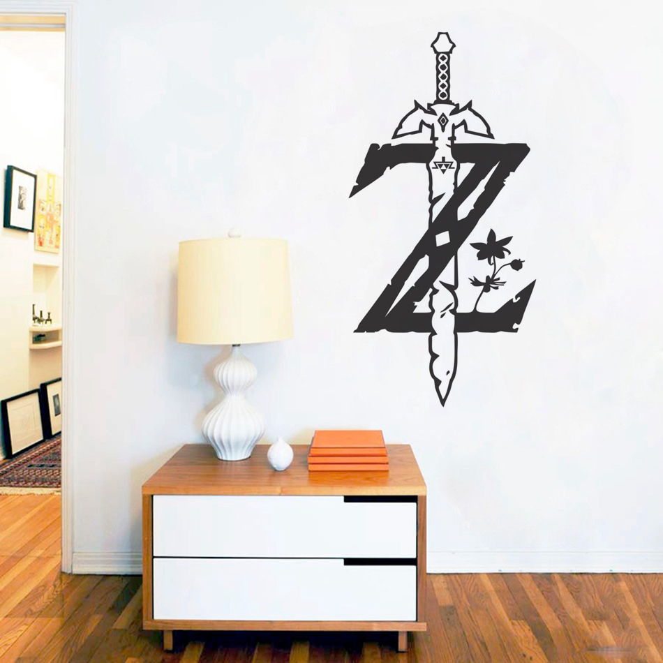 The Legend of Zelda Breath of the Wild Decal Game Poster Wall Sticker For Kids Room Decoration Bedroom Art Decor Playroom J12