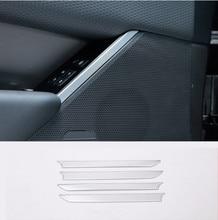 4Pcs ABS Chrome Car Door Speaker Decoration Strips Trim Stickers For Land Rover Range Velar 2017 Auto Accessories