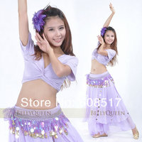 Mercerized Cotton Short Sleeve 88 Coin Skirt Belly Dance Outfit Belly Dance Costumes