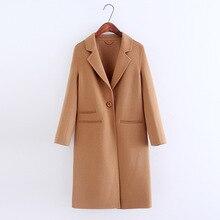 CAMEL green 100 cashmere wool long coat WOMEN