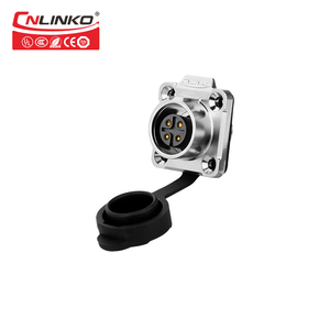 Image 3 - Cnlinko Metal Shell Male and Female Industrial Outdoor Lighting Panel LED Cable Plug Socket M16 4 Pin Waterproof Power Connector