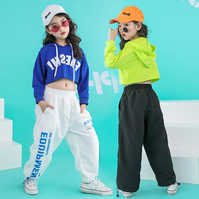 Image 3 - Newborn girls clothes  sets hip hop hoodie kids  dance costumes jazz summer baby girls clothing set childrens clothing 160 140Clothing Sets   -
