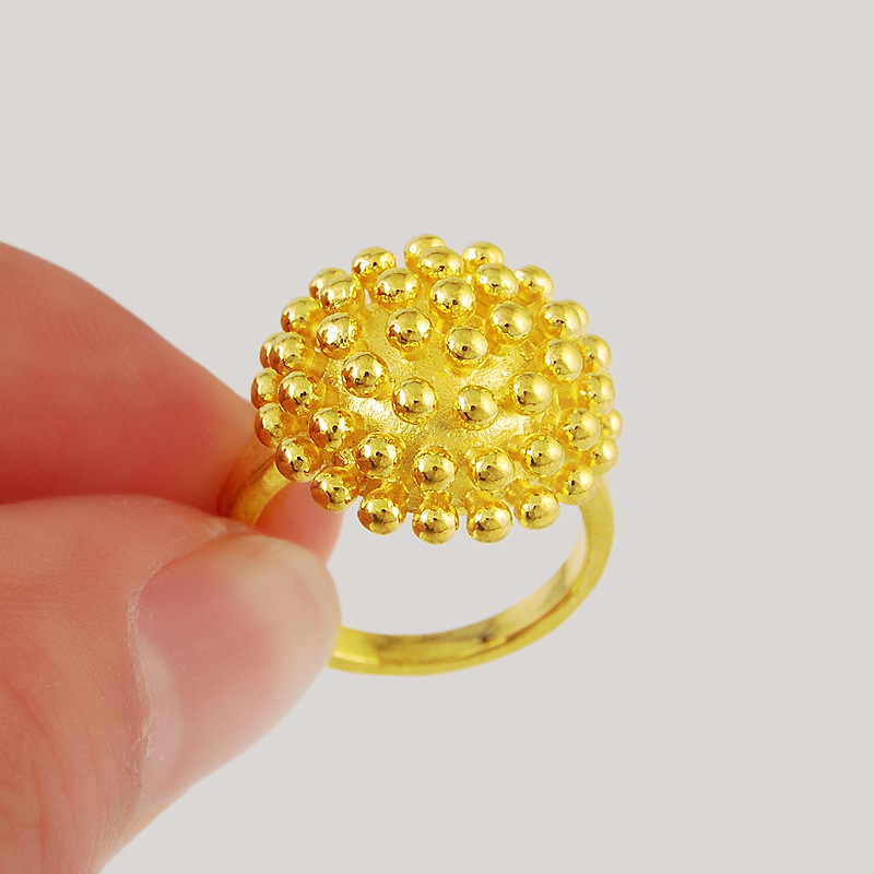 Fashion Fireworks Ring for Women Real Yellow Gold Filled Bridal