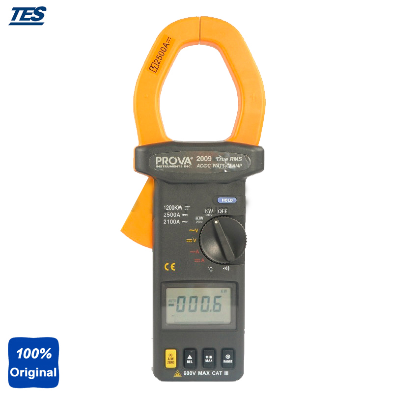 AC/DC True RMS Watt Clamp Meter , Temperature Measurement PROVA-2009 ...