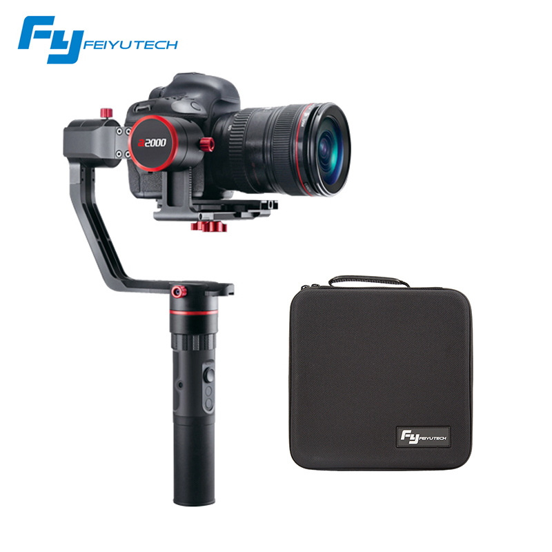 FEIYU A2000 load 2 kg 3 Axis handheld Gimbal DSLR Camera Stabilizer Dual Single Handheld Grip for Canon 5D SONY Nikon feiyu a2000 3 axis gimbal steadicam dslr camera dual handheld stabilizer for grip voor canon 5d sony panasonic 2000g