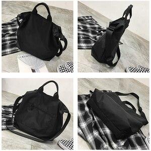 Image 4 - نايلون حقائب النساء الرجال حقيبة تسوق s قابلة لإعادة الاستخدام حقيبة تسوق اللون أسود أزرق
