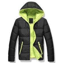 2018 mens winter jacket men's hooded wadded coat winter thickening outerwear male slim casual cotton-padded outwearM-XXXL
