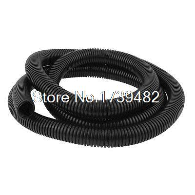 20mmx25mm Dia Flexible Corrugated Conduit Tube Pipe Hose Tubing Black 2M 1meter transparent food grade medical use fda silicone rubber flexible tube hose pipe tubing