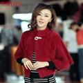 Custom NEW fall and winter Mink Cashmere long-haired Mink Shawl jacket Shawl cloak short paragraph Mink Cashmere knit Cardigan