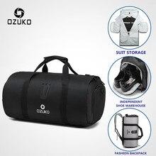 OZUKO Borsa Da Viaggio Multifunzione Uomini di Grande Capacità Impermeabile Duffle Bag per il Viaggio sacchetto di Immagazzinaggio del Vestito Borse Bagaglio A Mano con il Pattino Del Sacchetto
