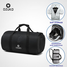 OZUKO Travel Bag Multifunction Large Capacity Men Waterproof Duffle Bag for Trip Suit Storage Hand Luggage Bags with Shoe Pouch