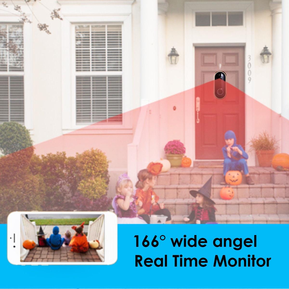 1080P Smart WIFI Doorbell Intercom Video Phone Ring Door Bell Camera IR Entry Door Alert Wireless Security Chime Door Cam Alarm in Doorbell from Security Protection
