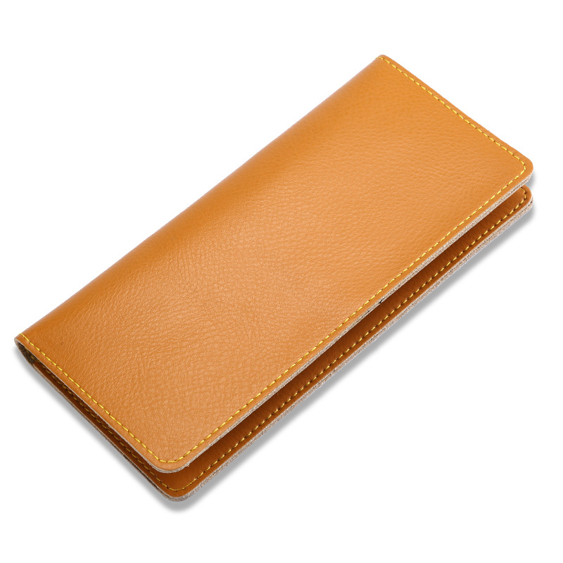 BLEVOLO Slim Long Purses Genuine Leather Men Wallets Thin Male Money Clips Fashion Women Clutch Wallet New Female Purse 11 Color women wallet female 2017 coin purses holders 100% genuine leather money bags fashion sheepskin long clutch lace wallets