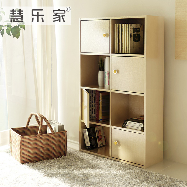 Hui Roca Simple Eight Band Multi Door Bookcase Storage Cabinets Debris Glove Lattice