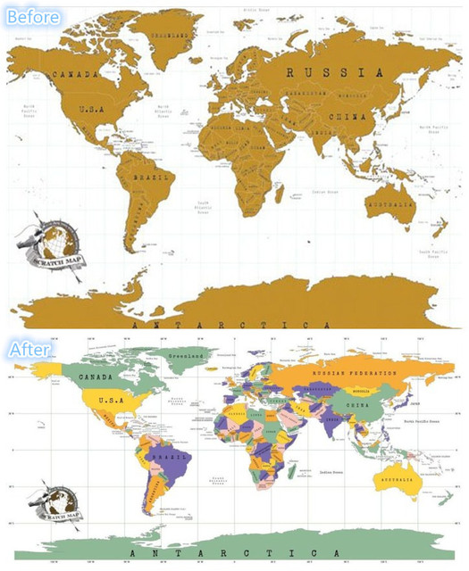 Aliexpress Buy Scratch Map Scratch off Golden World Map – Track Your Travels Map