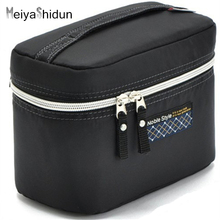 MeiyaShidun Women Cosmetic Bag Case Beauty Makeup Organizer Toiletry Storage Box Accessories Nylon Make Up bag Travel Wash pouch