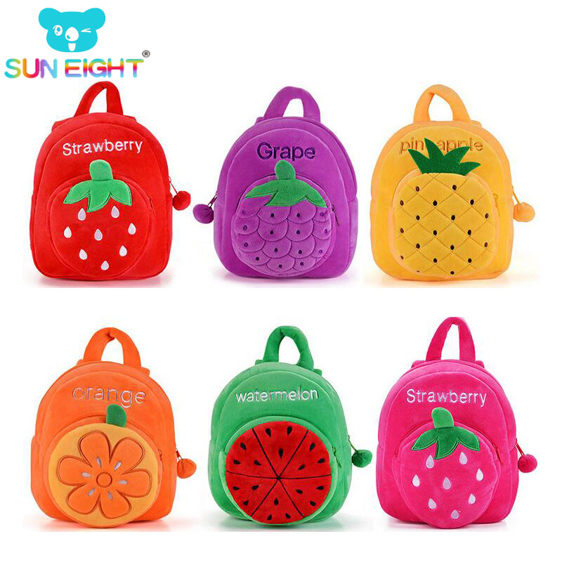 Fruit Series Baby Cute Baby Soft Plush Backpacks Mini Bag Plush Backpack Children Food Bags For Girls Backpack Snack Pocket