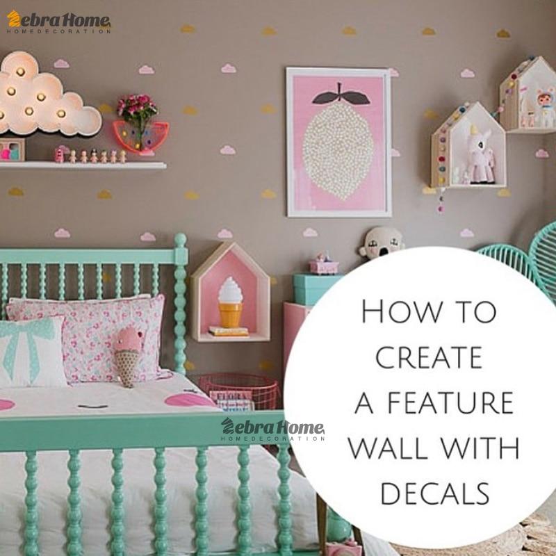 Nube pequeña pegatinas de pared tatuajes de pared diy decoración - Decoración del hogar - foto 2