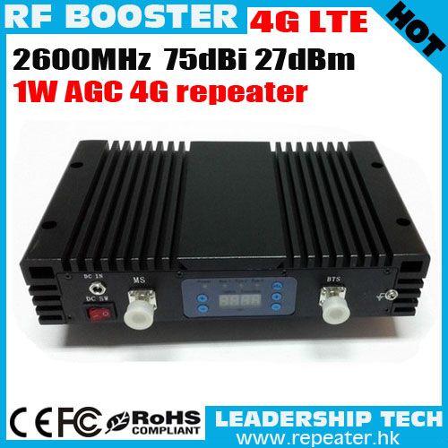 LTE-26 RF 4G 2600mhz 1Watt 75dbm 27dbi Cellular Mobile/cell Phone Signal Repeater Booster Amplifier Detector LCD Display AGC