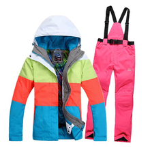 New 2014 winter female skiing jackets Gsou woman ski coat snowboard ski suit women snow wear jacket gsou snow brand women ski jackets winter snowboard jacket windproof waterproof thicken warmth coat female mountain ski clothes
