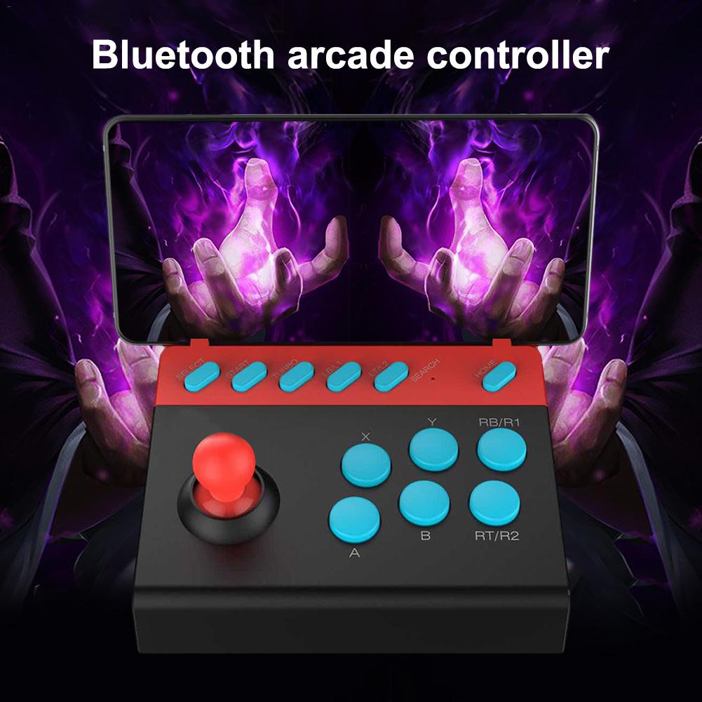 Bluetooth 4.0 Handheld Arcade Joystick Fighting Stick Gaming Controller Video Game For PC Android IOS Mobile Tablet Smart TVBluetooth 4.0 Handheld Arcade Joystick Fighting Stick Gaming Controller Video Game For PC Android IOS Mobile Tablet Smart TV