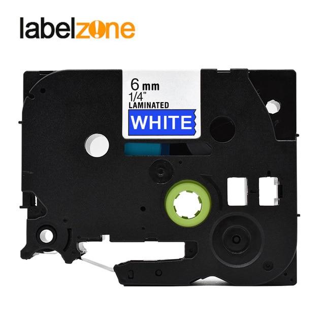 6mm Beyaz mavi tze-515 Uyumlu Brother P-touch yazıcılar tze515 tz-515 tz tze 515 etiket bant şerit ptouch etiket makinesi