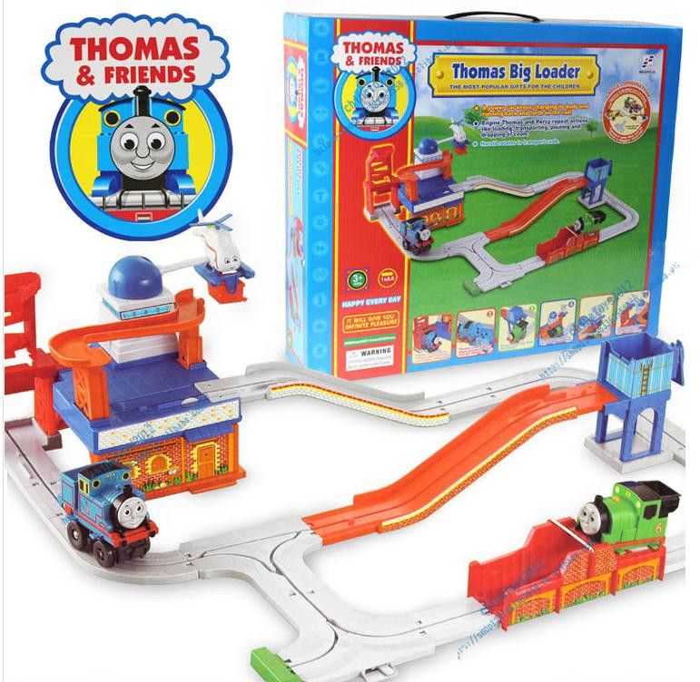 Superior harbor pier Thomas train, rotating electric rail cars, train tracks toys, retail, wholesale, free shipping