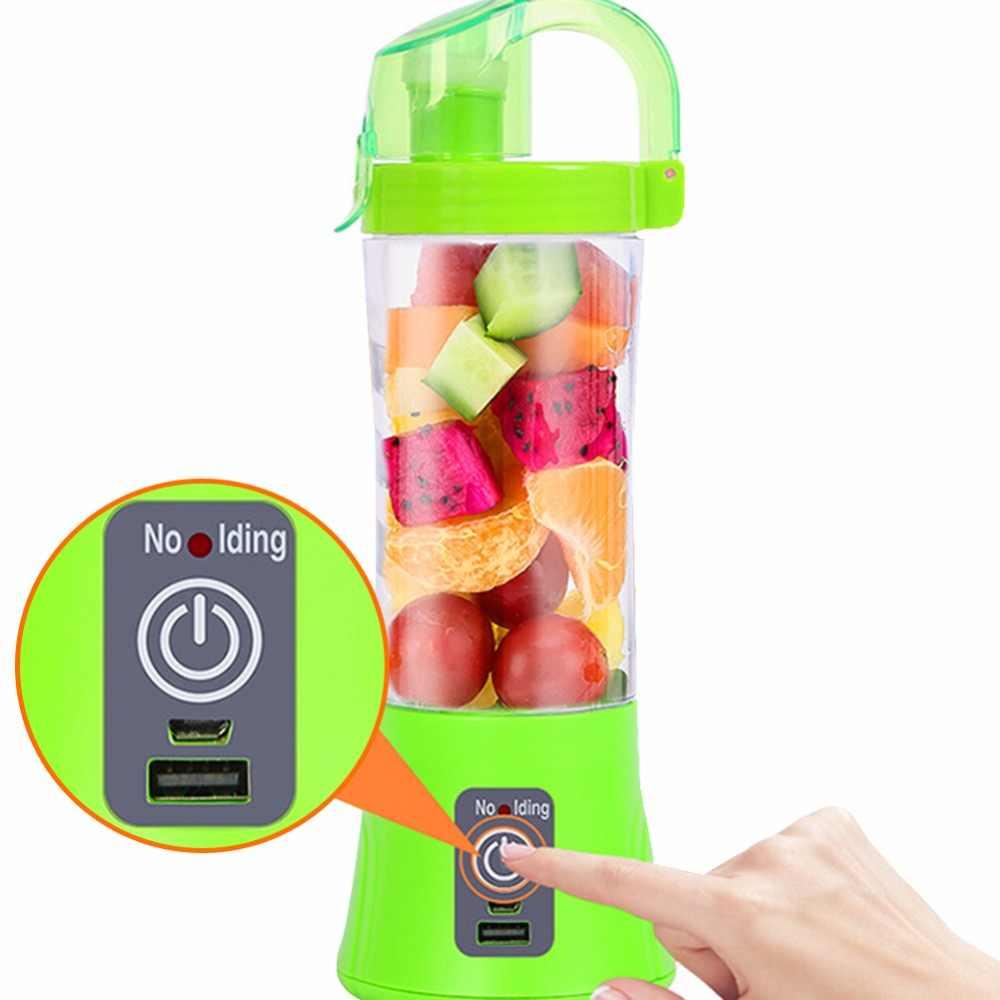 400 ml Portátil Copo Espremedor Liquidificador Suco USB Multi-função de Misturador de Frutas Seis Lâmina de Mistura Smoothies Máquina de Comida Para Bebé dropshipping