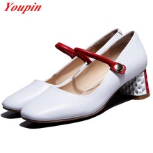 Pumps Natural leather Shoes Comfortable Breathable Casual Shoes Mary Jane women's shoes Pu 2016 arrival standard size 34 – 39