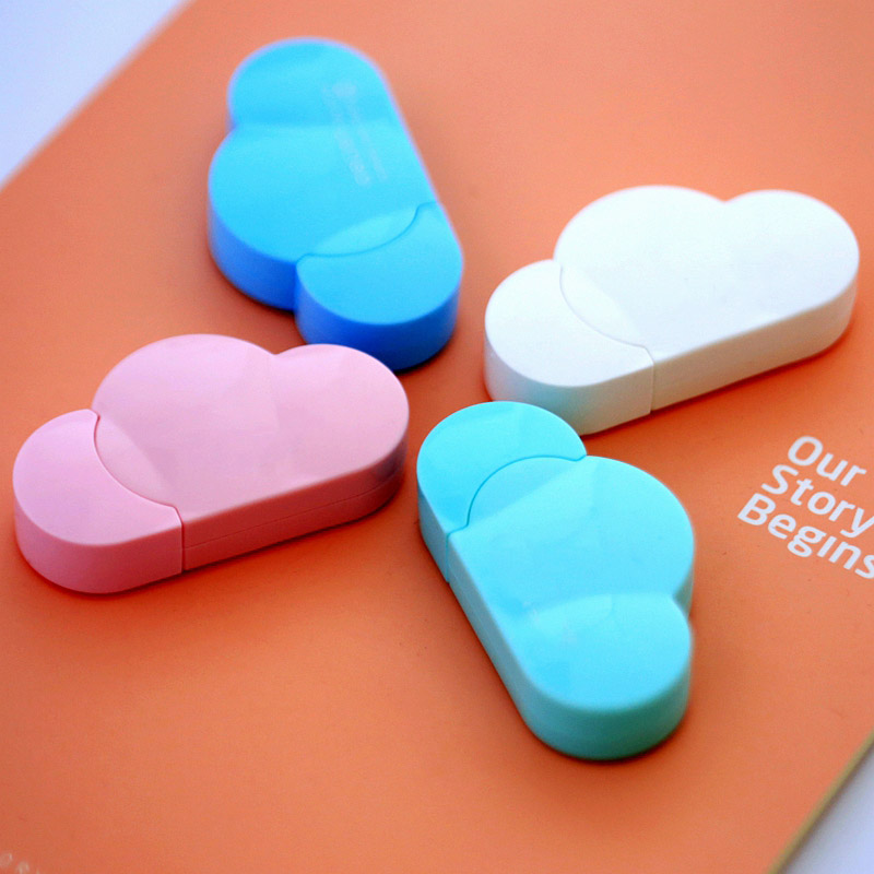 5mm X 5m Deli Cute Kawaii Cloud Mini Small Correction Tape Korean Sweet Stationery Novelty Office Kids School Supplies Children 5mm x 5m deli sweet kawaii cloud shape mini correction tape korean stationery novelty office school supplies kids study tool
