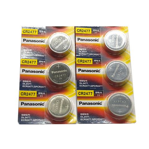 Bateria para Panasonic Célula tipo Moeda Baterias de Alta Resistente a Altas Lote Nova Cr2477 3 v cr 2477 Botão Performance Temperaturas 5 Pçs –