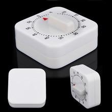 Экономичный 60 минут кухонный таймер отсчет будильник напоминание белый квадратный механический таймер для кухни ds99