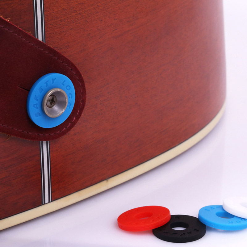 2pcs Guitar Strap Block Rubber Safety Lock Washer Acoustic