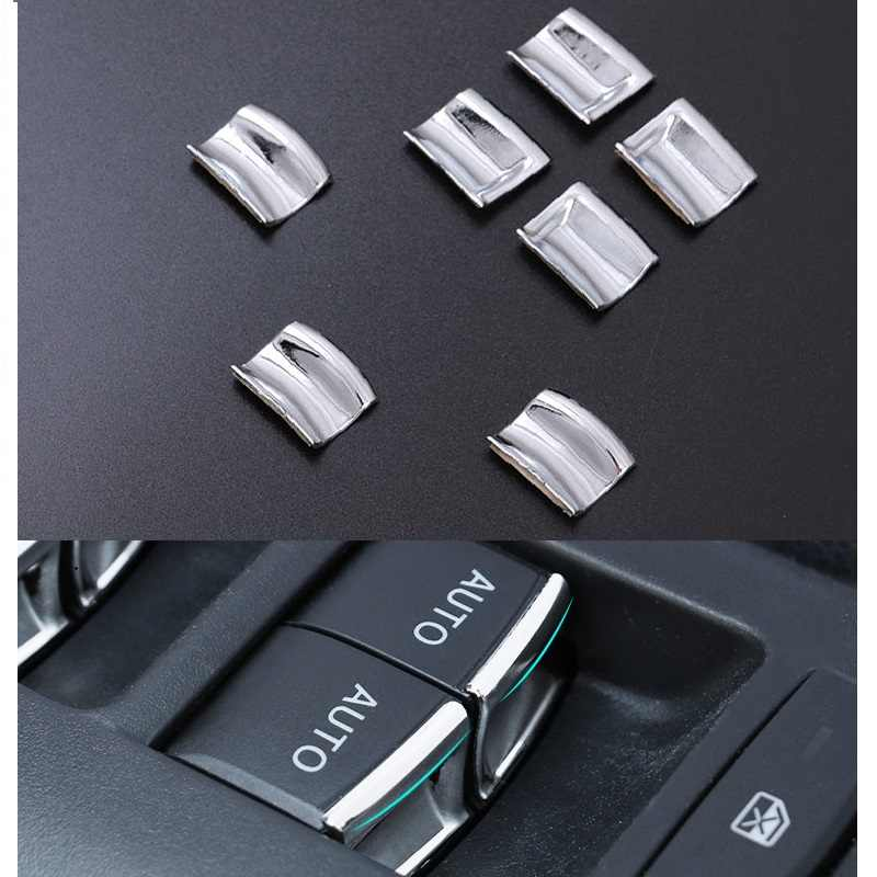 4 Pcs ABS Chrome Trim Window Switch Button Cover For Honda Civic 2016-2018 LHD