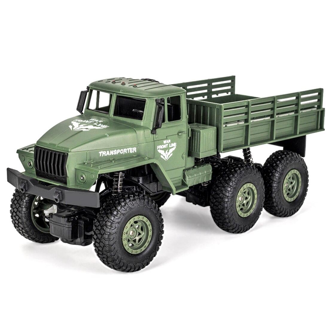 1:18 2,4G 10км/ч RC военный грузовик RC шесть колесо грузового автомобиля дистанционного Управление игрушка для детей Dongfeng № 7 зеленый