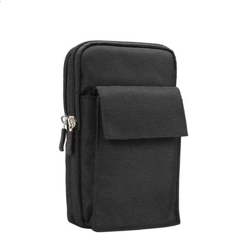 For iPhone 8/8Plus Phone Pouch 6.4inch Double Zipper Multi-function Sport Waist Mountaineering Bag for Samsung Note 8 /S8/S8Plus