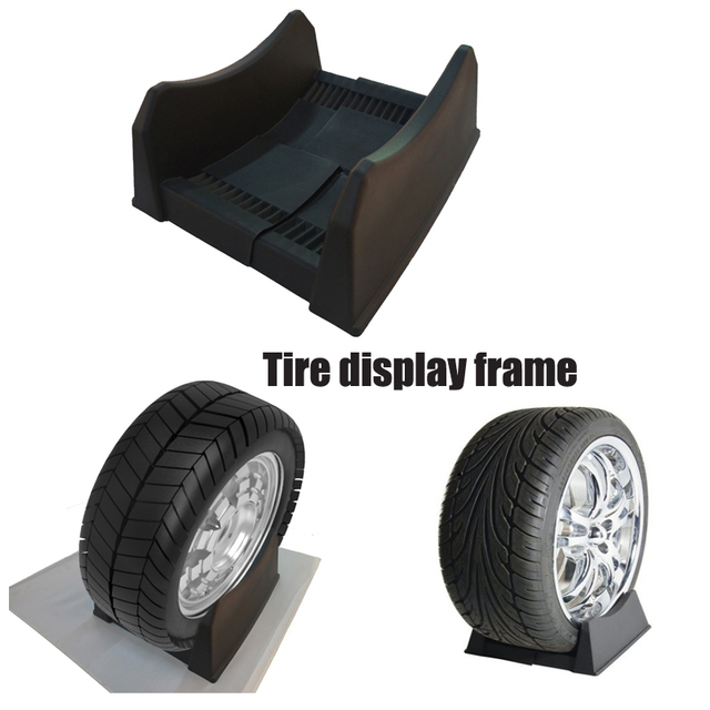 JQTUNING High Quality PP Material Adjustable Tire Wheel Hub Holder Impressive Tire Display Stands