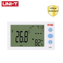 UNI-T A10T Digital LCD Thermometer Humidity Meter Clock Hygrometer of Weather Station Tester Alarm Clock Digital Psychrometer uni t ut331 digital thermo hygrometer thermometer temperature humidity moisture meter tester w lcd backlight