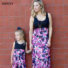Family Matching Clothes 2019 Mother and daughter dresses matching clothes Mom dress Simple Floral Mini Dress E059