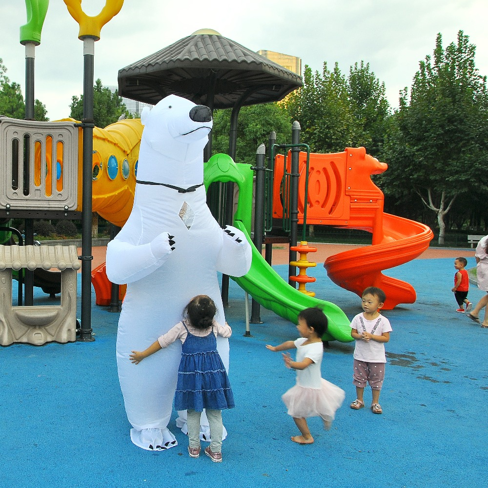 Inflatable Polar Bear Costume Mascot Costumes Animal Fantasias Adult Christmas Halloween Birthday Party Cosplay Costume