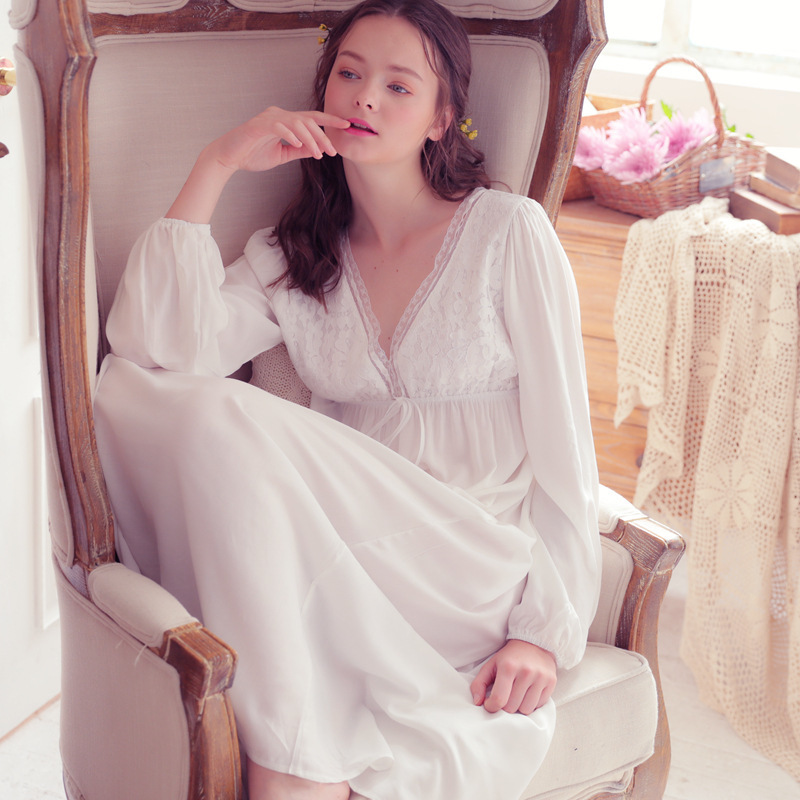 RenYvtil 2018 New Arrival Lace Women Sleepwear Ladies Sexy Lingerie Sleepdress Nightdress   Nightgown     Sleepshirts   Homewear