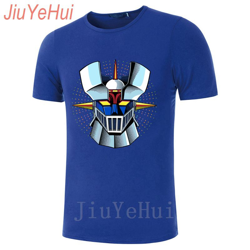 2018 Fashion Men's Interesting Mazinger Z   T     Shirts   Men Anime Old Classic Manga Robot Movie   T  -  Shirt   Black Basic Tees TShirt Boys