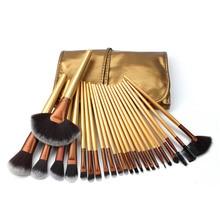 Золотой пояс косметичка 24 Макияж Кисти набор волоконных волос цвет Кисть для макияжа наборы кистей для макияжа